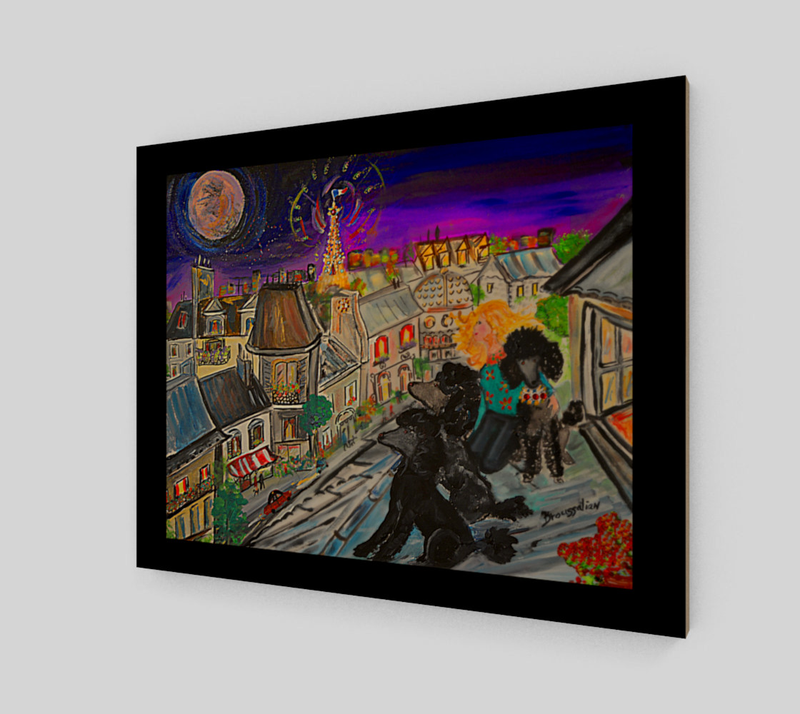 canvas moonlight in paris Miniature #3