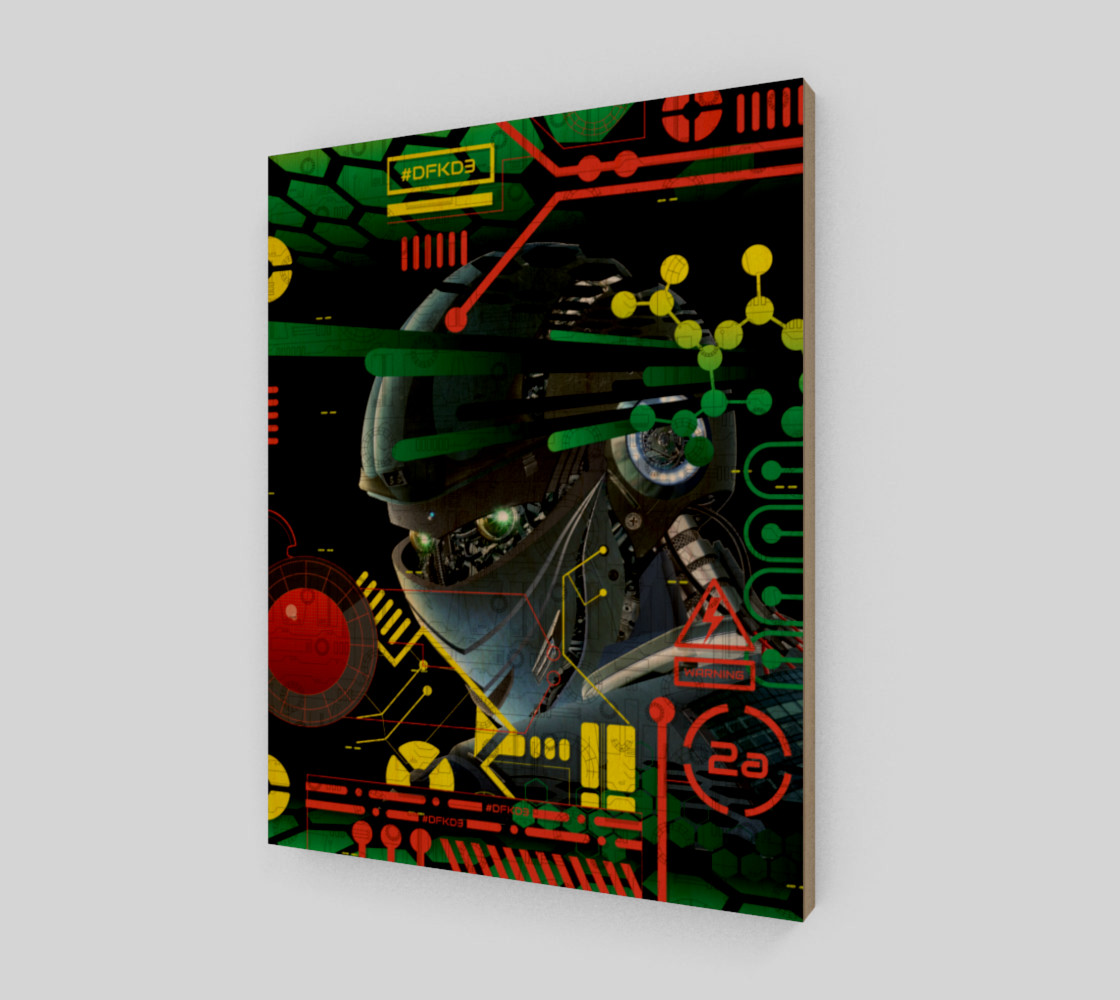Aperçu de Futuristic Sci-Fi Techno Robot Wall Art #1