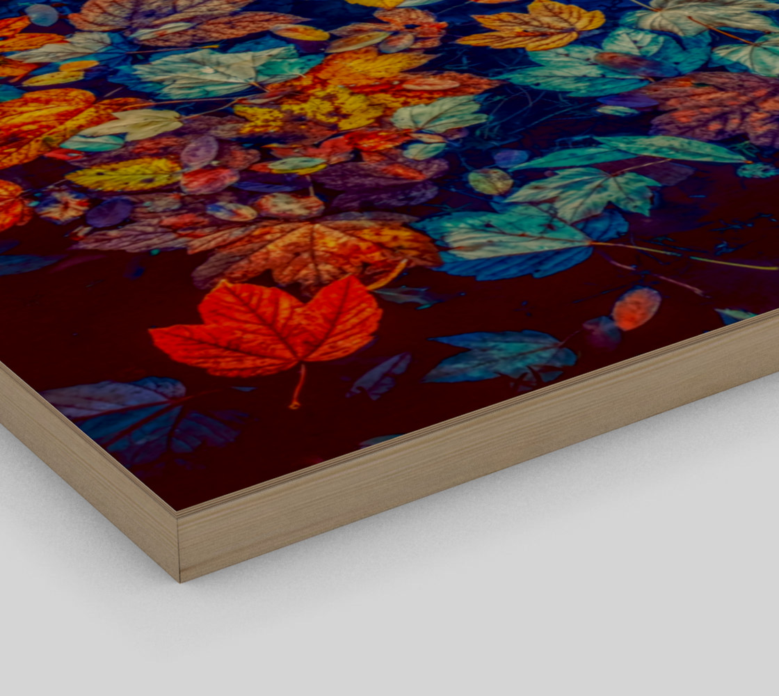 fall-leaves negative mix wall art preview #3