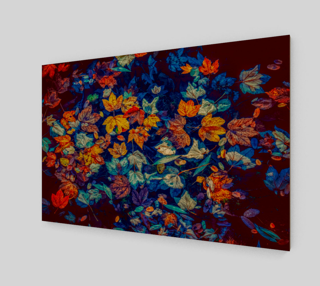 fall-leaves negative mix wall art preview #1