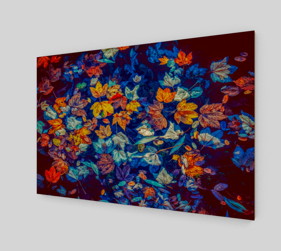 fall-leaves negative mix wall art preview #2