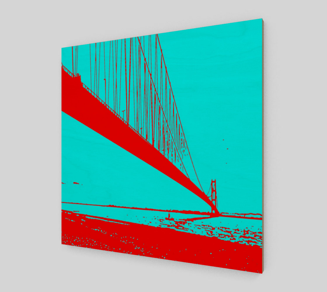 Lanndscape red blue turquoise preview #2