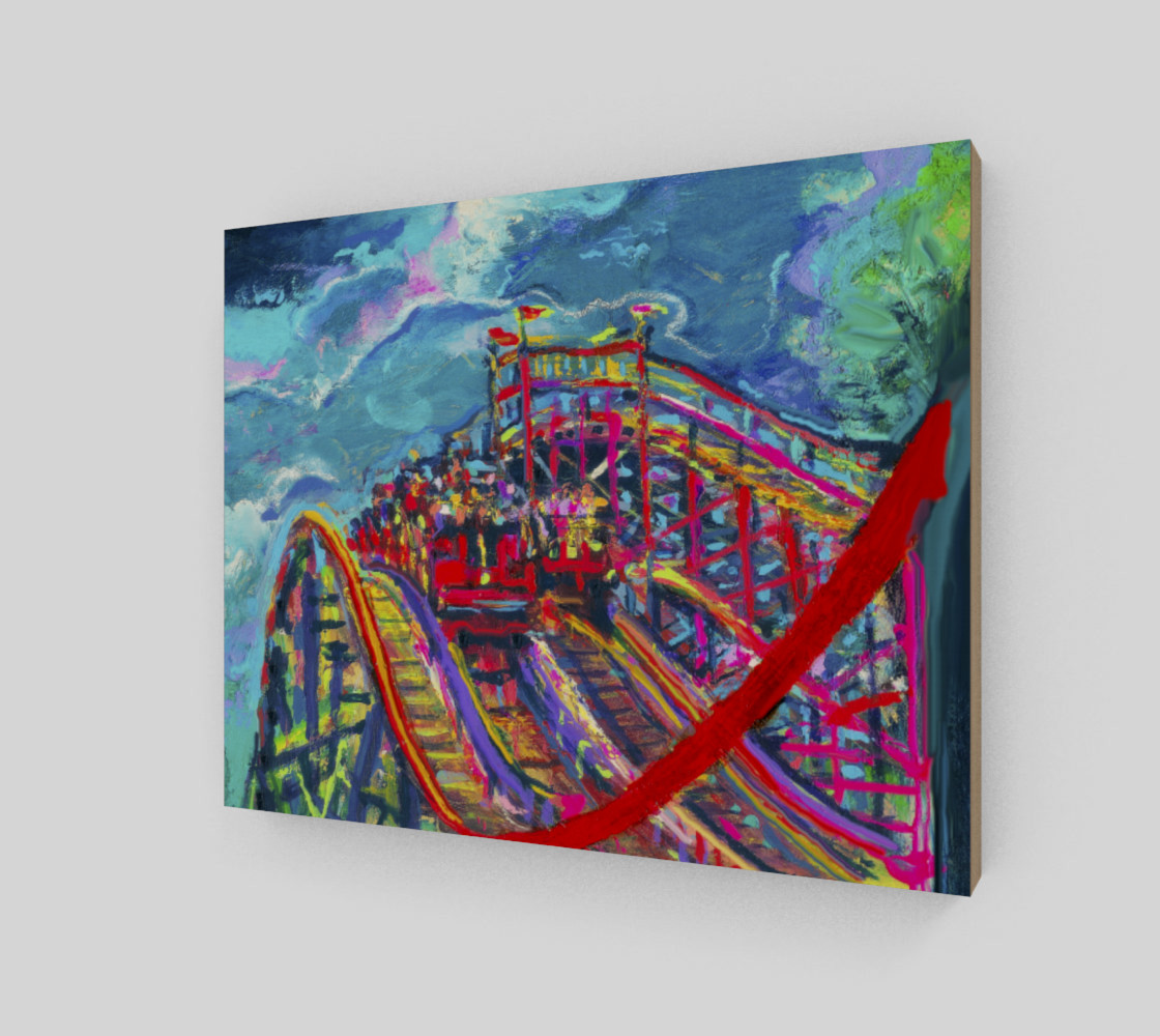 Roller Coaster Circus Fashion-Match Wall Print preview #2
