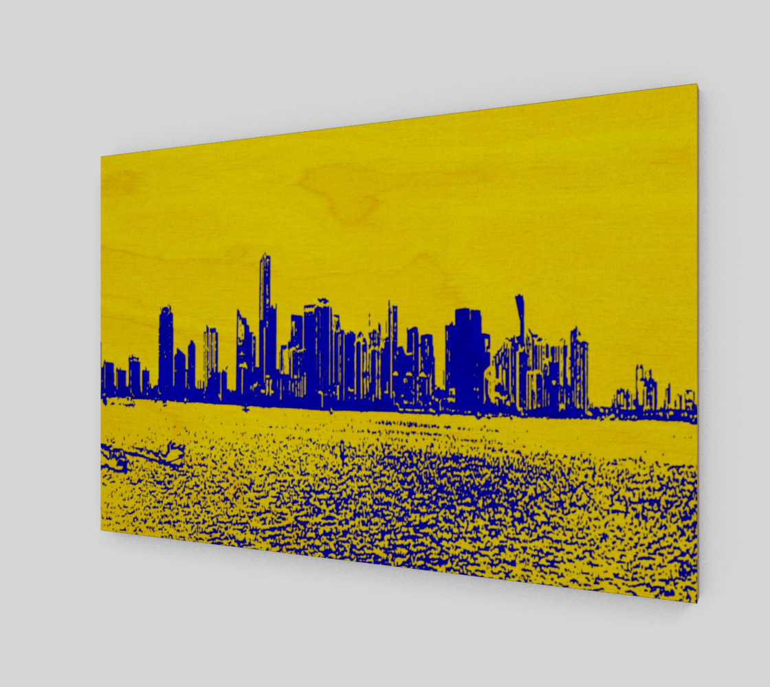 Miami yellow blue 3D preview