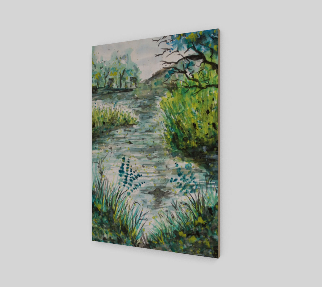 A Walk Along the Lake Watercolor preview #2