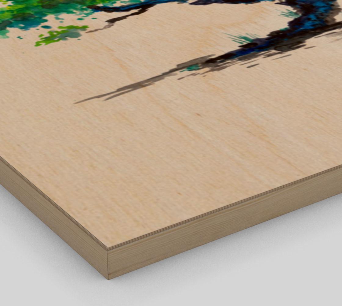 Blue Bonsai Watercolor  preview #3