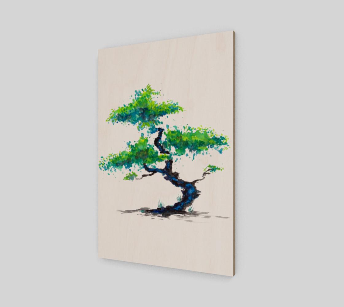 Blue Bonsai Watercolor  preview #2