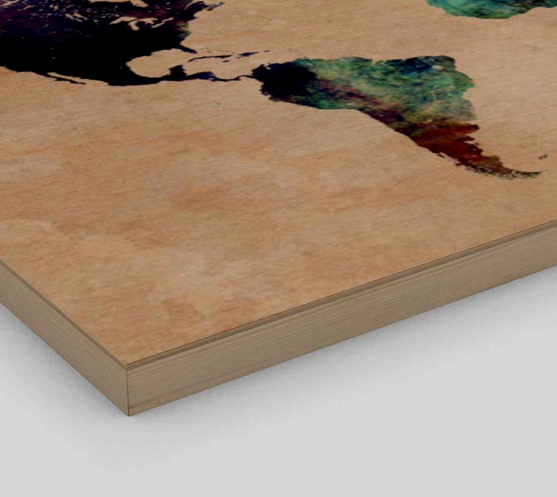 World Map 1 art print preview #3