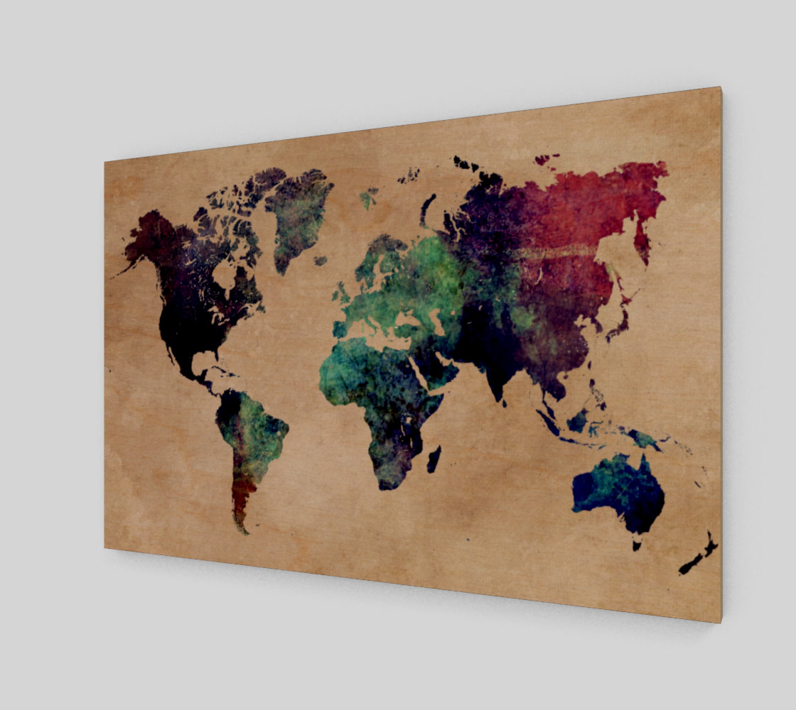 World Map 1 art print preview #1