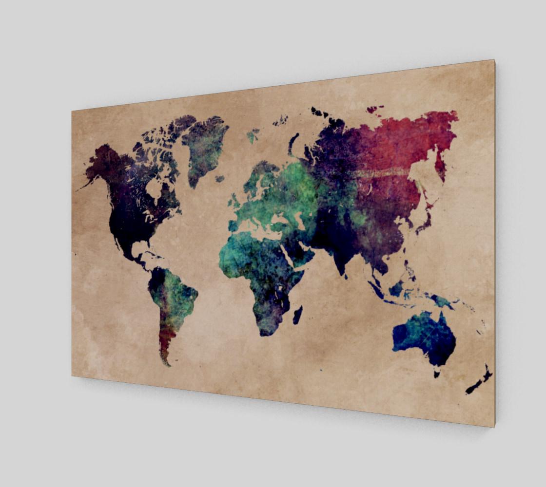 World Map 1 art print preview #2