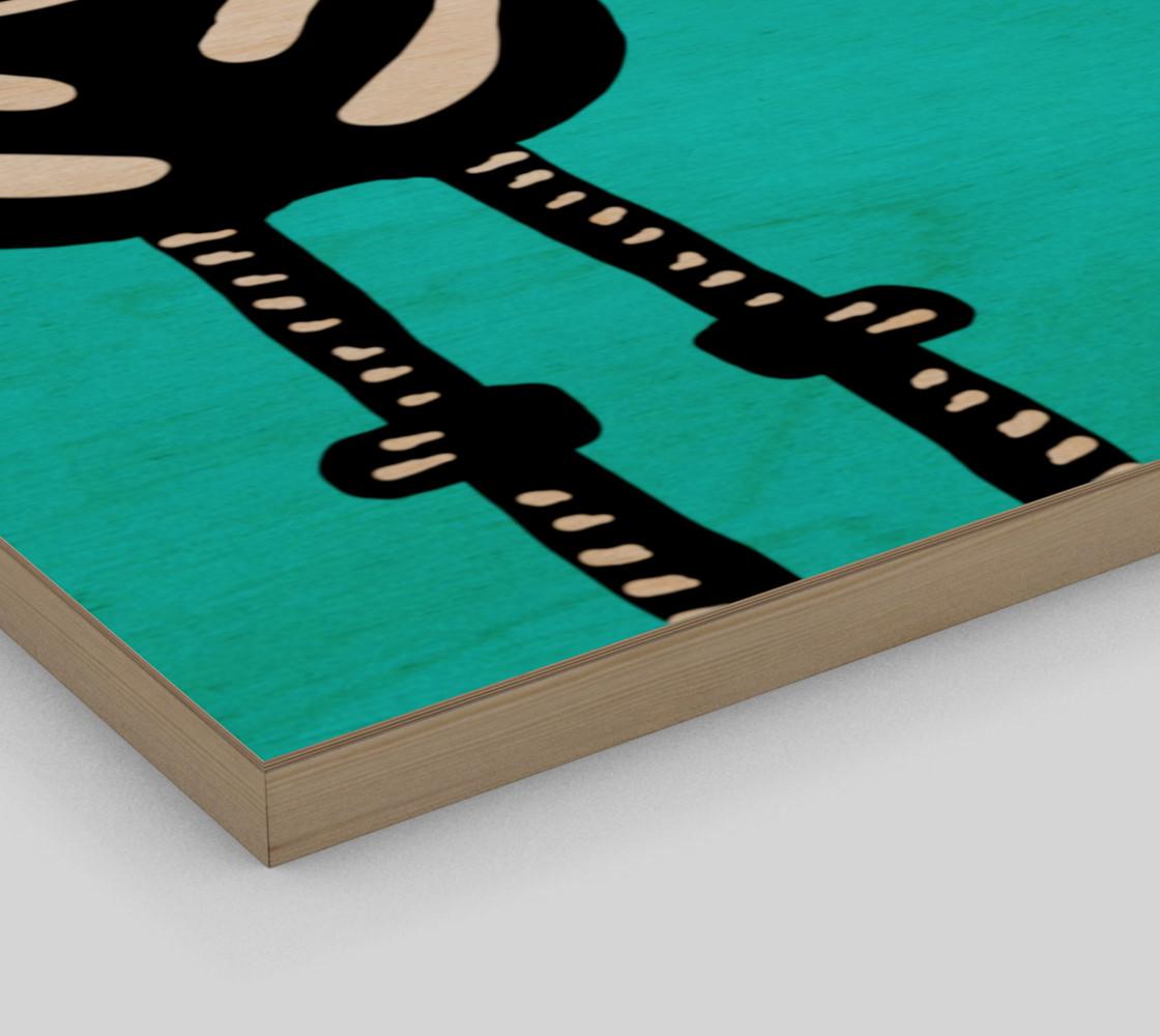 "Zebra Both Ends Wall Art 12"" x 12"" preview #3"