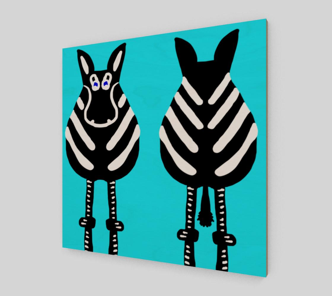"Zebra Both Ends Wall Art 12"" x 12"" preview #2"