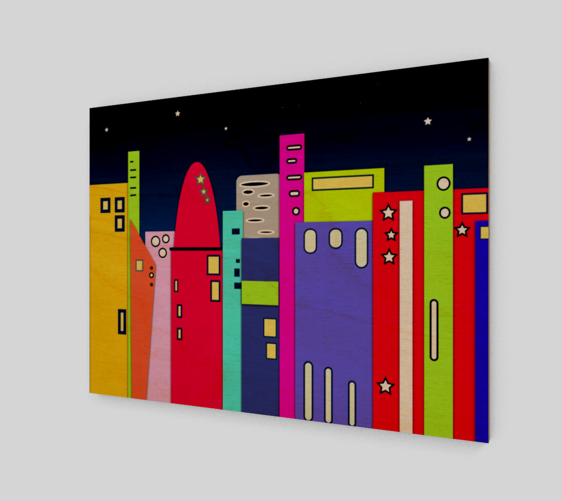 """Space City Wall Art 10"""" x 7.5"""" preview #1"""