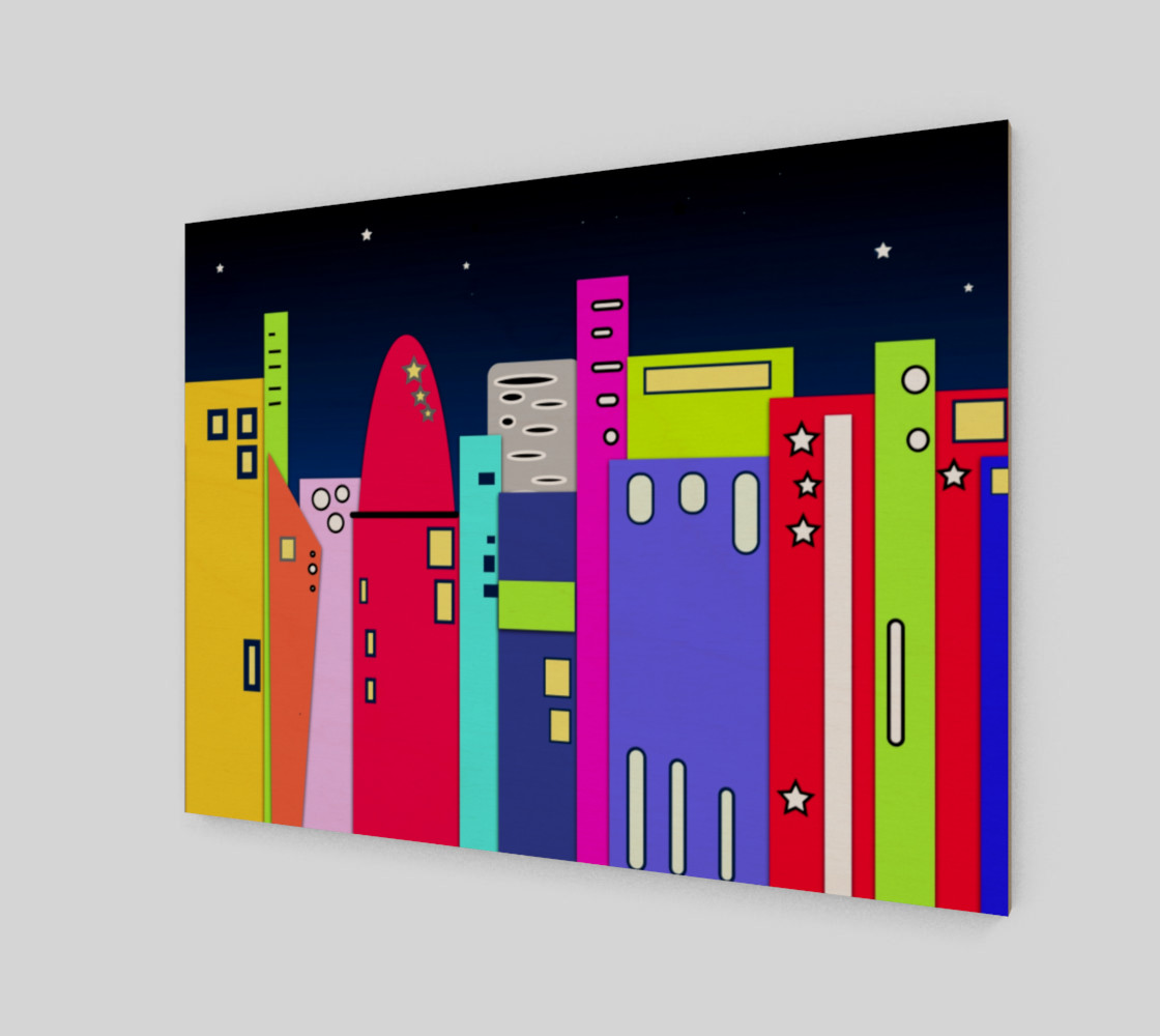 """Space City Wall Art 10"""" x 7.5"""" preview #2"""