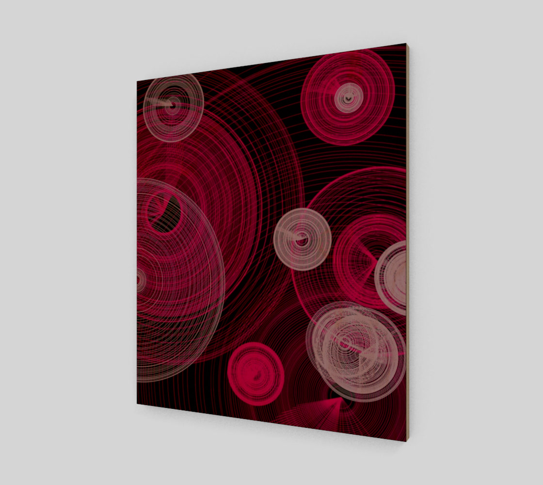 "Aperçu de Circles Wall Art 20"" x 24"" #1"