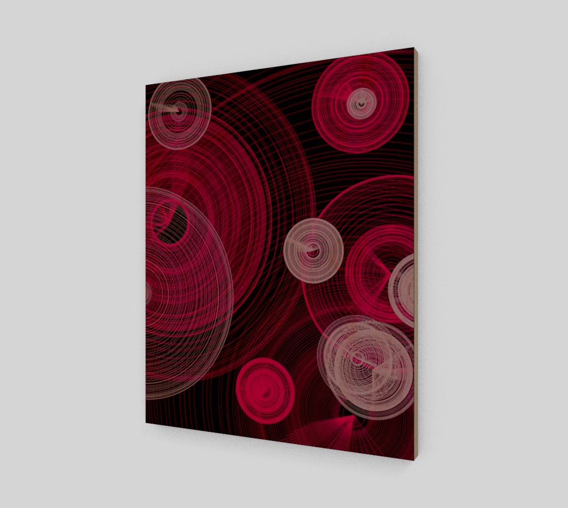 "Aperçu de Circles Wall Art 16"" x 20"" #1"