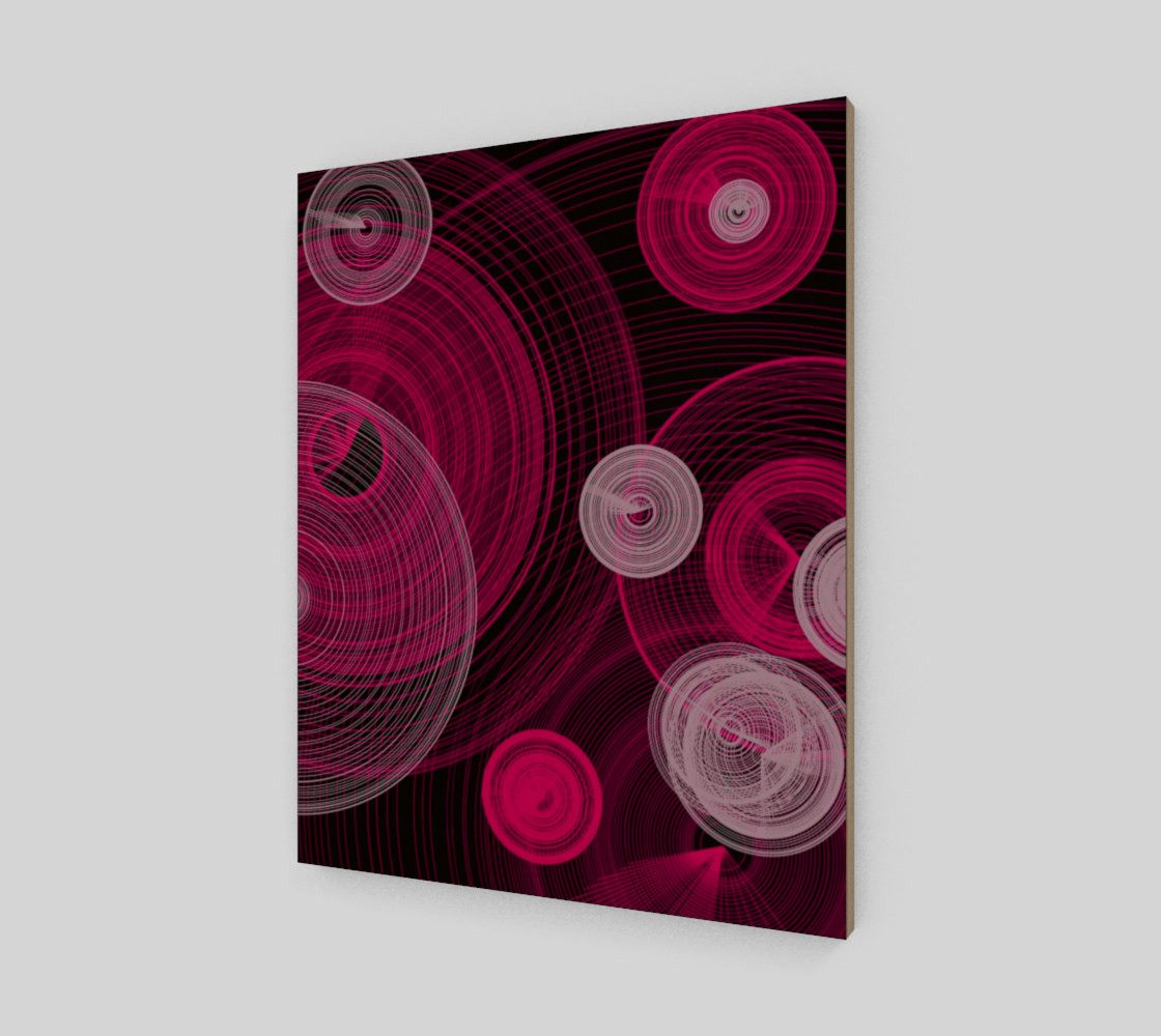 "Circles Wall Art 16"" x 20"" Miniature #3"
