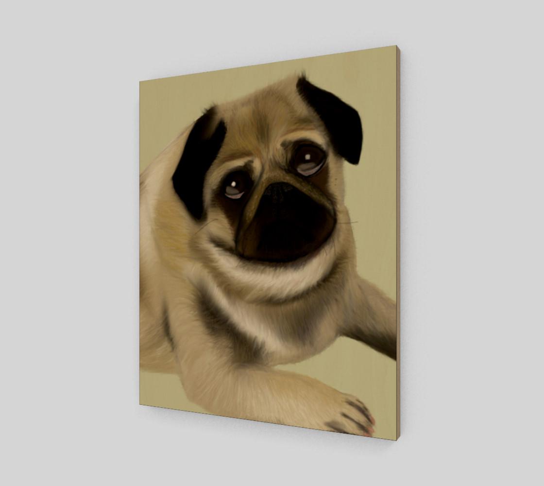 "Pug Love Wall Art 16"" x 20"" preview #2"