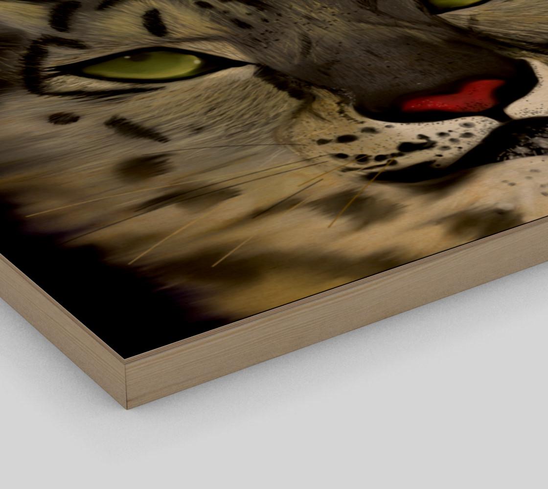 "Snow Leopard Wall Art 20"" x 16"" preview #3"