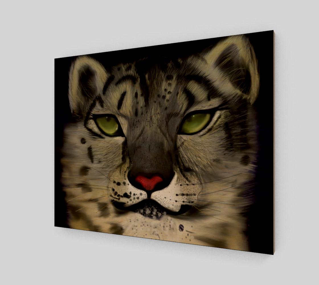 "Snow Leopard Wall Art 20"" x 16"" preview #1"