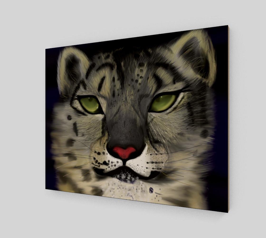 "Snow Leopard Wall Art 20"" x 16"" preview #2"