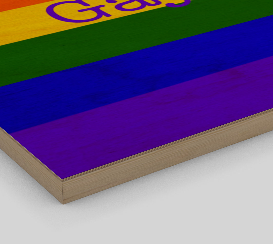 """Gay Pride Love Wall Art 12"""" x 8"""" preview #3"""