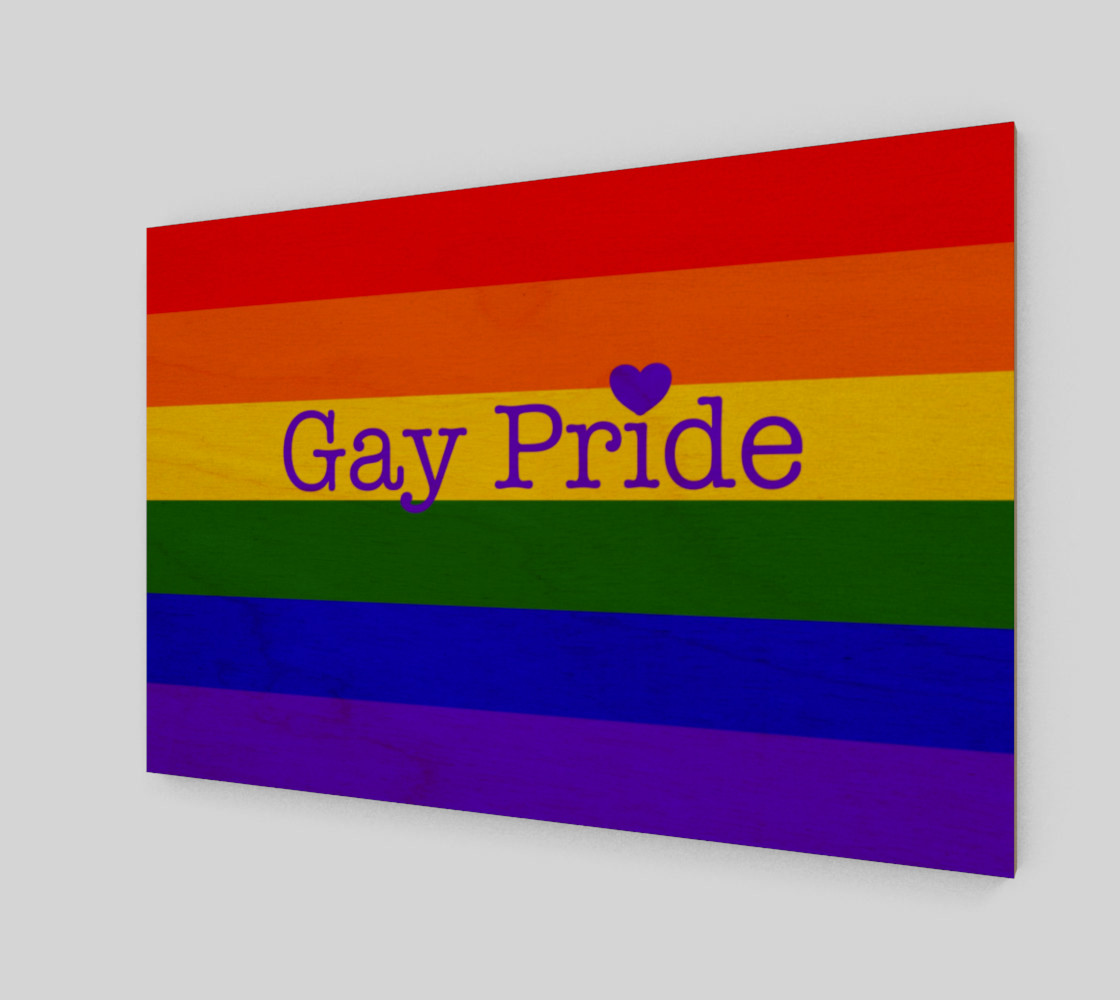 """Gay Pride Love Wall Art 12"""" x 8"""" preview #1"""