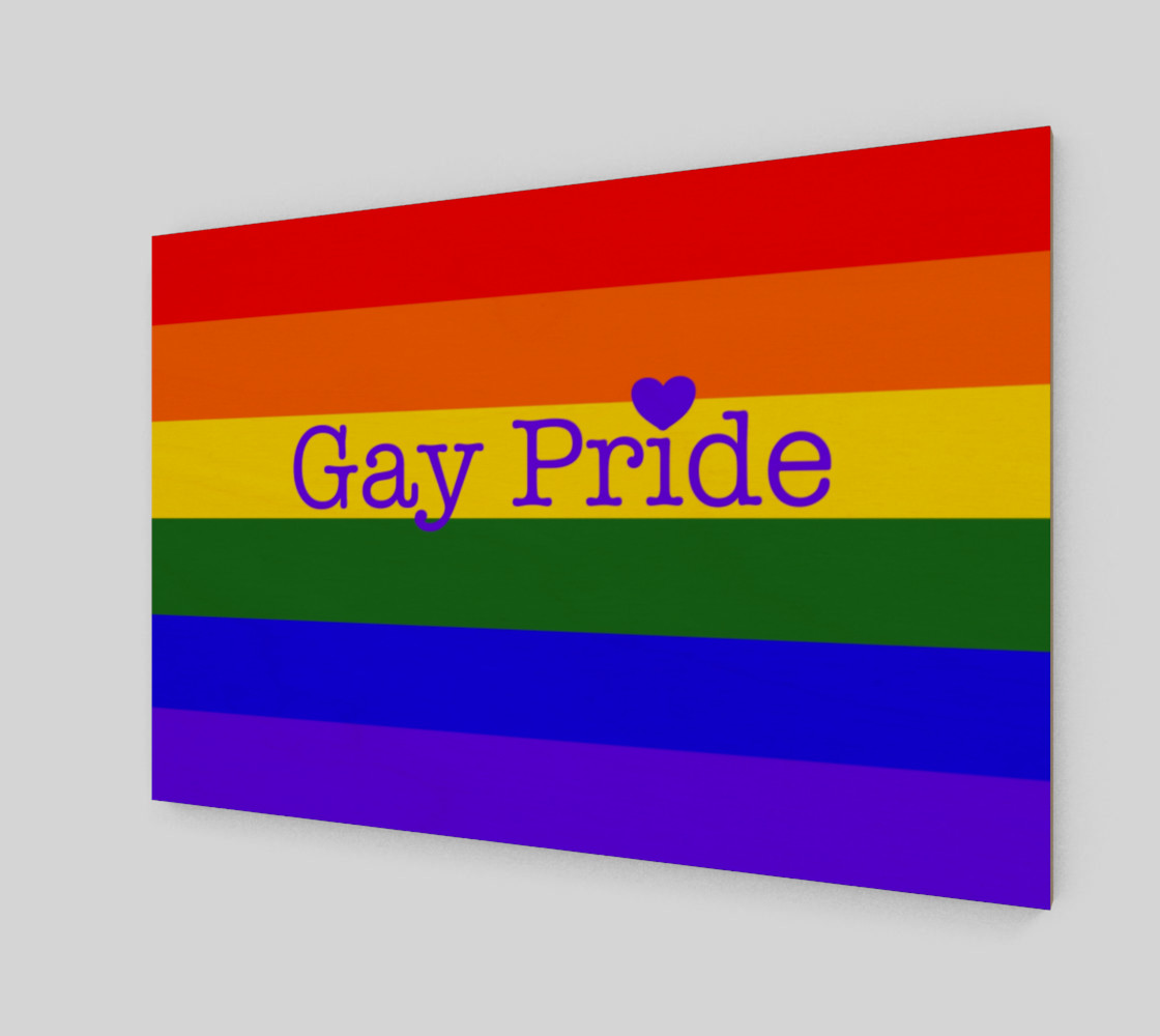 """Gay Pride Love Wall Art 12"""" x 8"""" preview #2"""