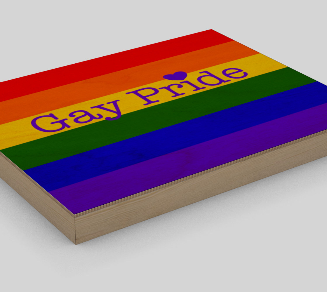 """Gay Pride Love Wall Art 10"""" x 8"""" preview #3"""