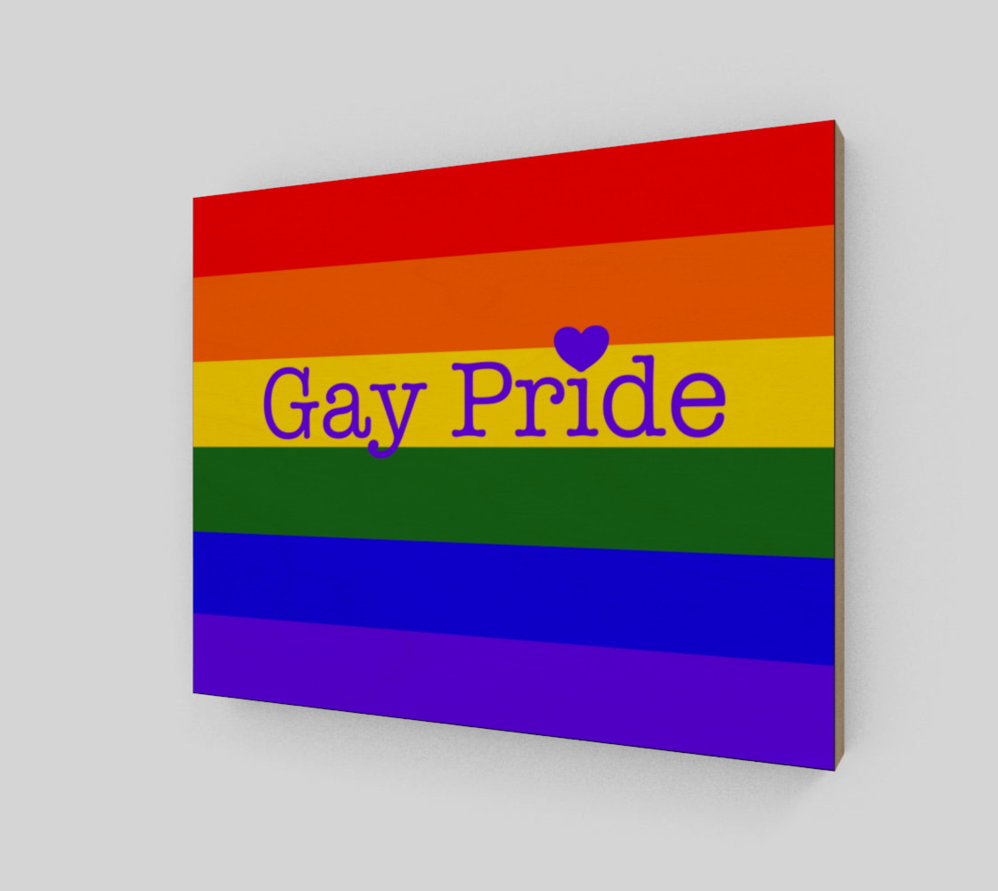 """Gay Pride Love Wall Art 10"""" x 8"""" preview #2"""