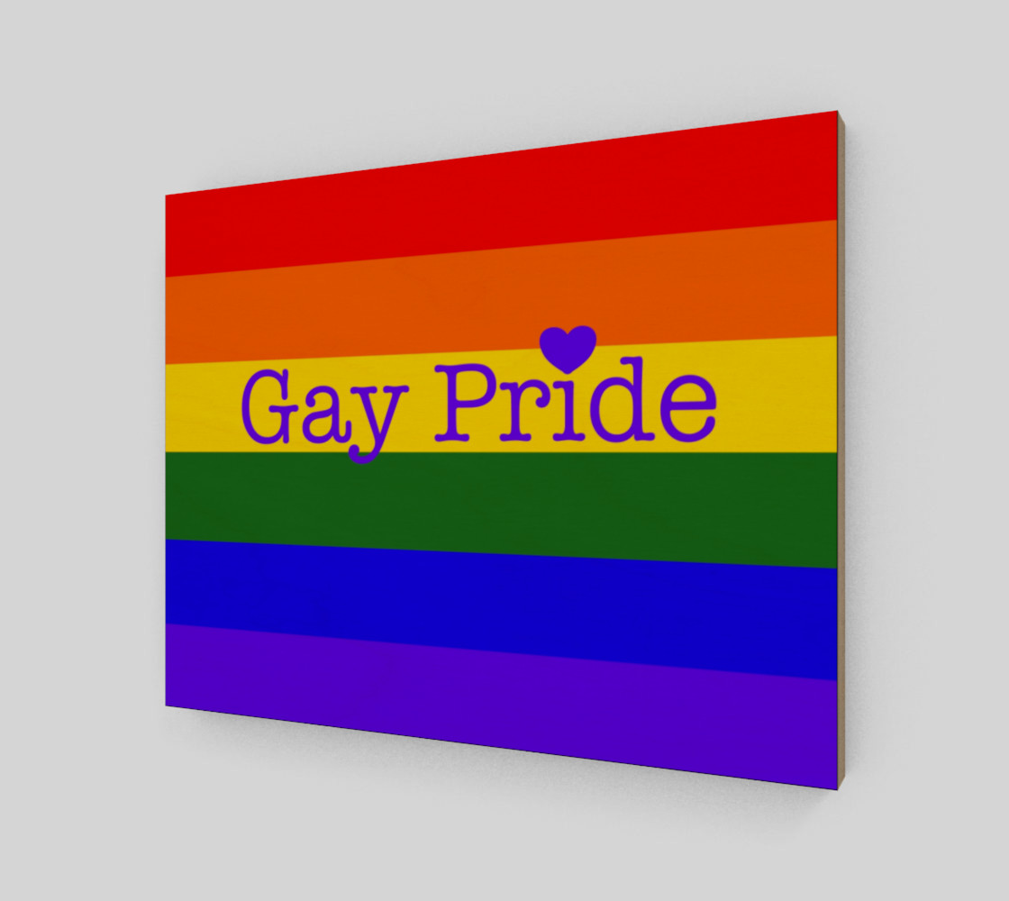 """Gay Pride Love Wall Art 14' x 11"""" preview #2"""