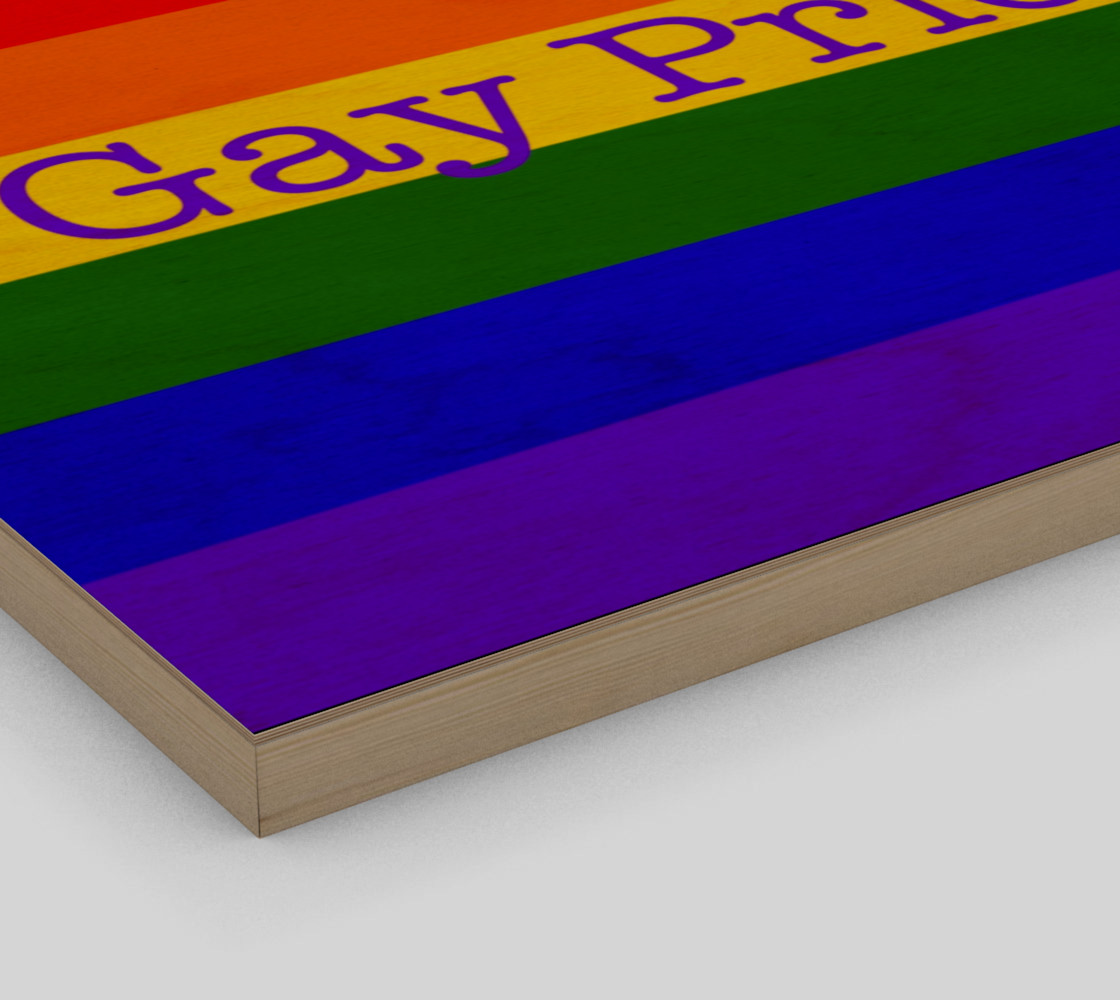"""Gay Pride Love Wall Art 20"""" x 16"""" preview #3"""