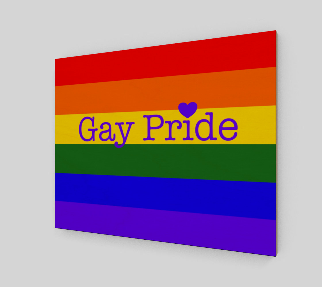 """Gay Pride Love Wall Art 20"""" x 16"""" preview #2"""