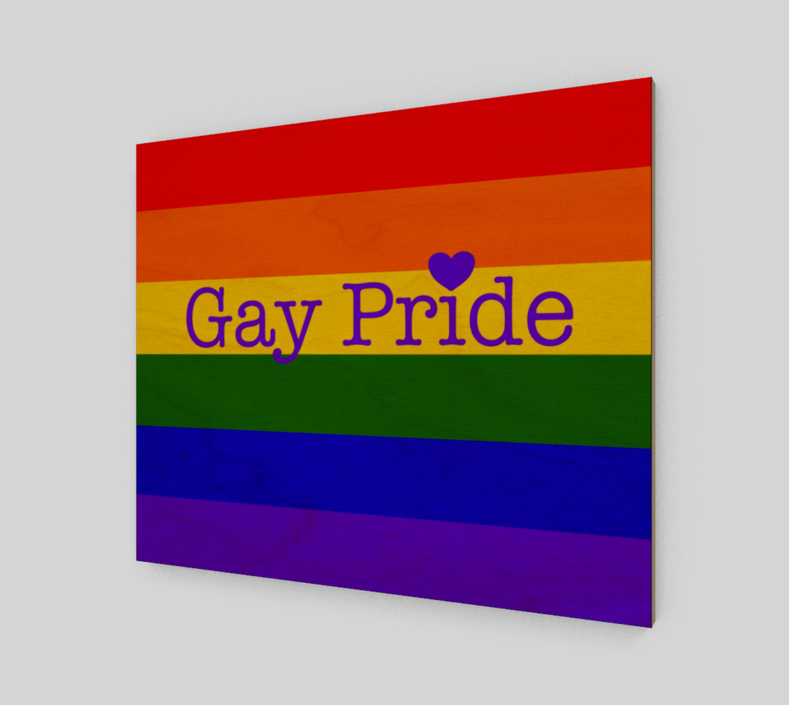 """Gay Pride Love Wall Art 24"""" x 20"""" preview #1"""