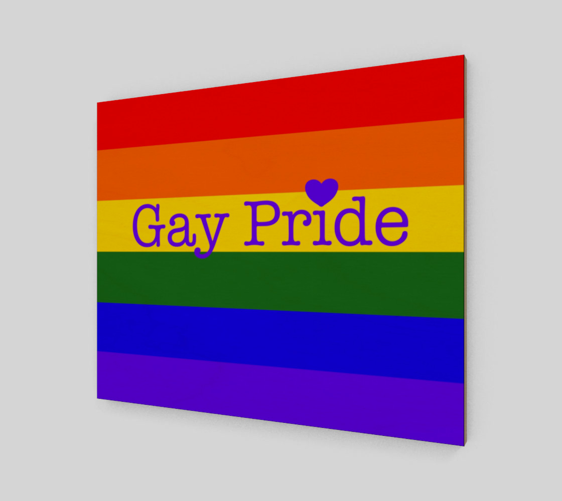 """Gay Pride Love Wall Art 24"""" x 20"""" preview #2"""