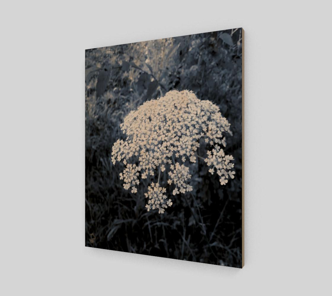 Blue Flowers Modern Art Print by Tabz Jones preview #1