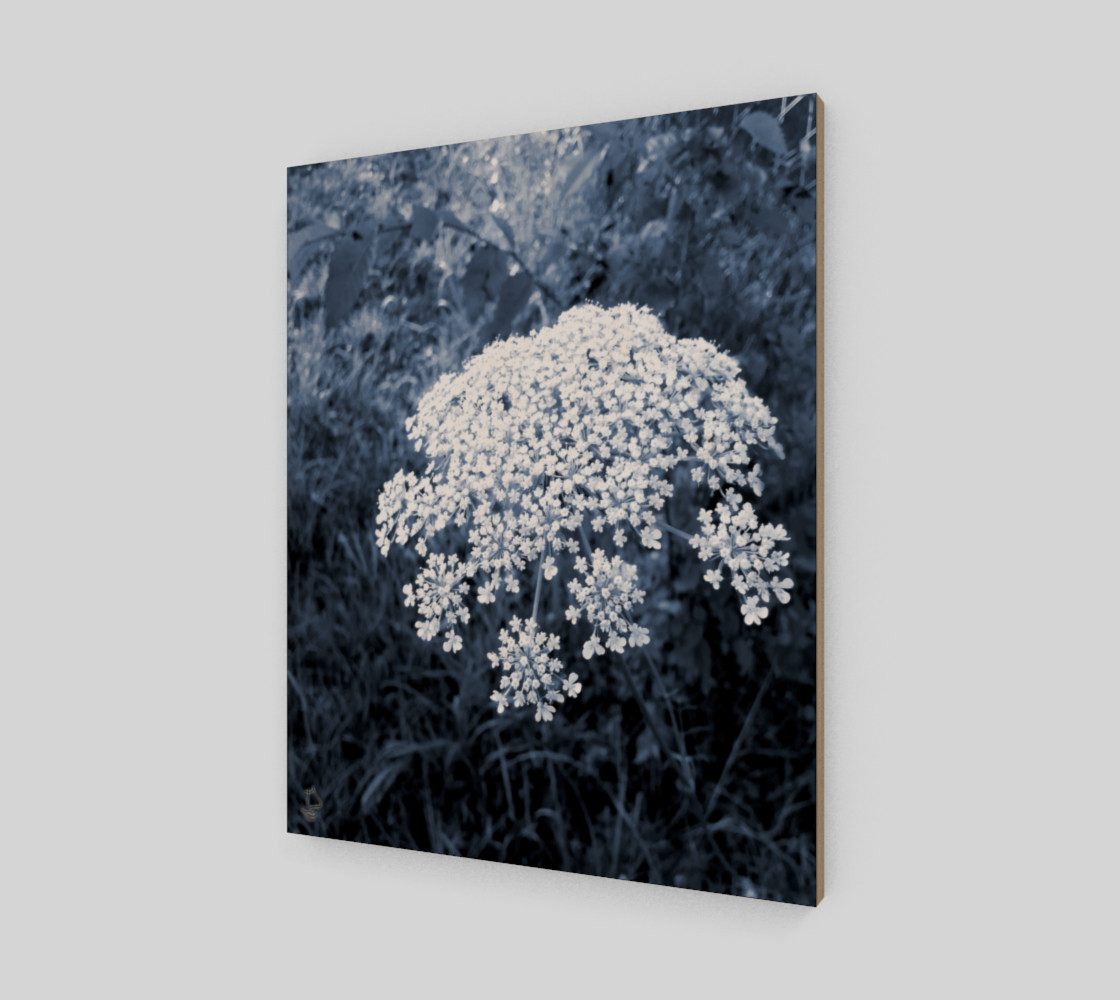 Blue Flowers Modern Art Print by Tabz Jones preview #2