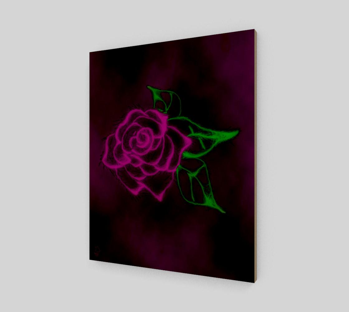 Aperçu de Fractal Rose fantasy art print by Tabz Jones #1