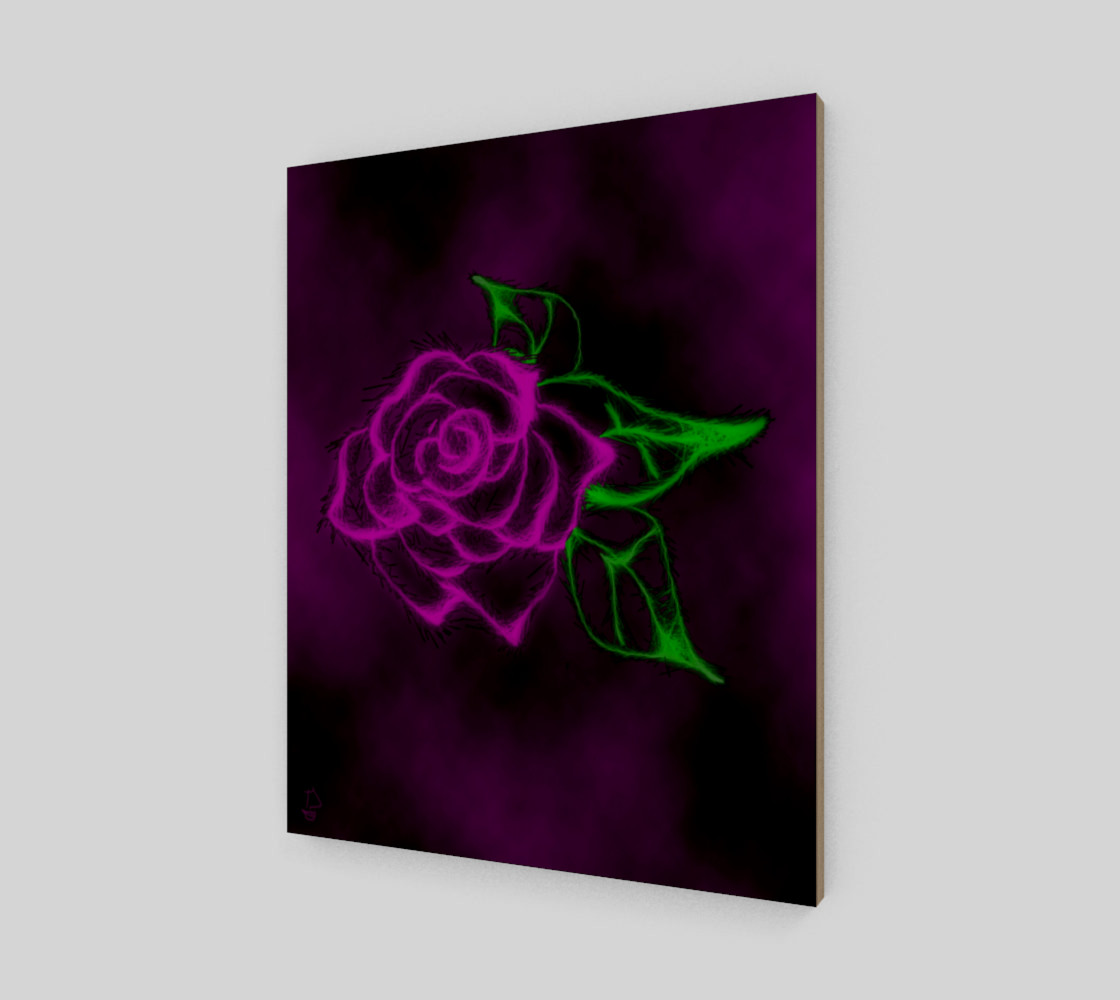 Aperçu de Fractal Rose fantasy art print by Tabz Jones #2