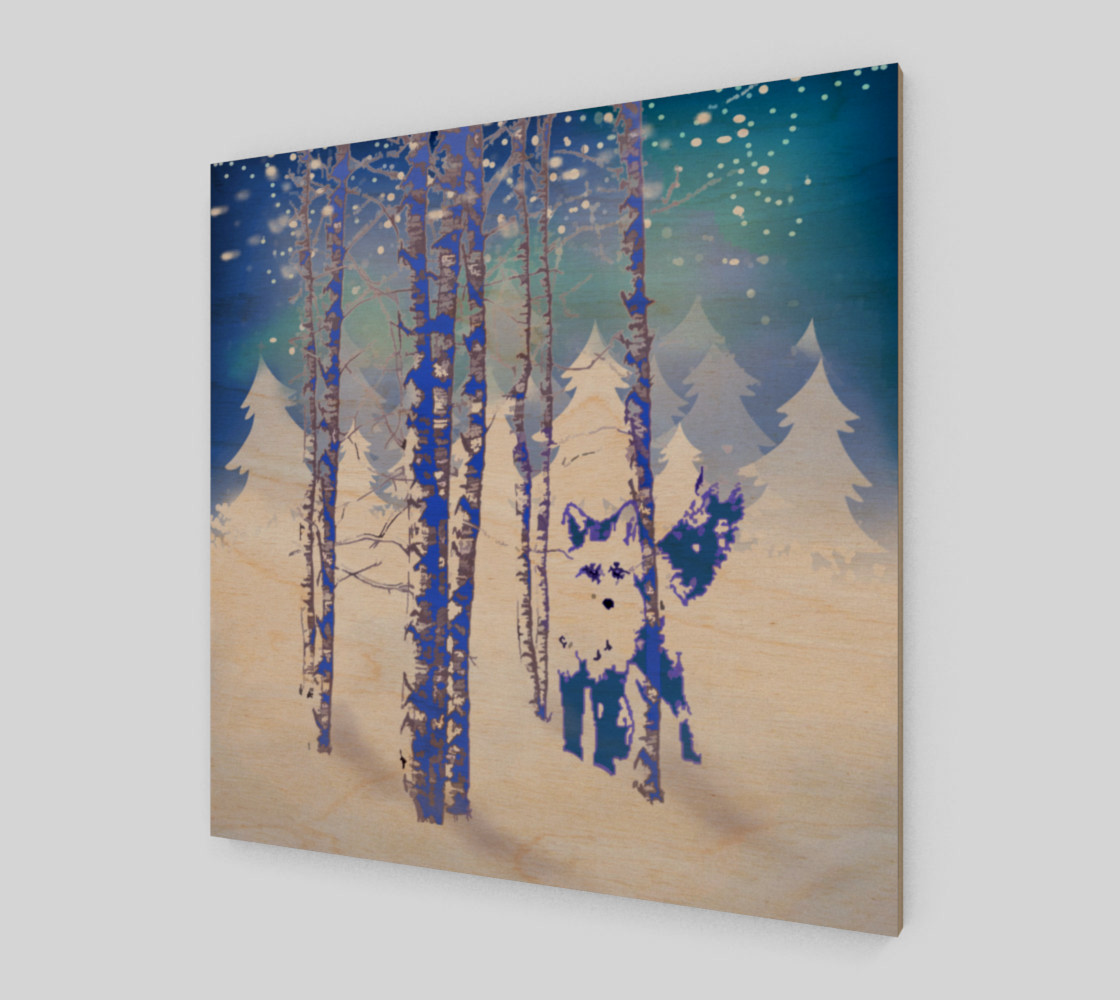 Blue Winter Snow Forest Fox Animal Foxes  preview #1