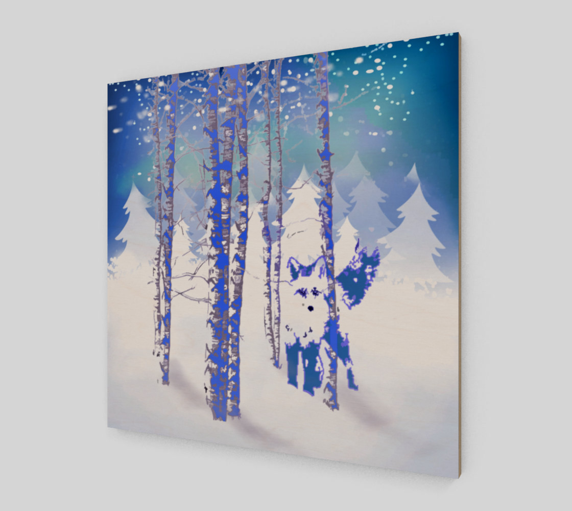 Blue Winter Snow Forest Fox Animal Foxes  preview #2