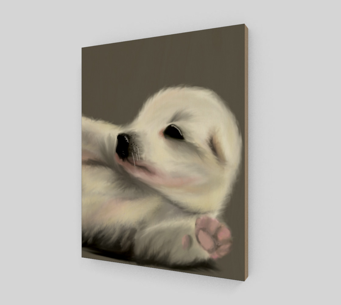 "Adorable Puppy Wall Art 11"" x 14"" preview #2"