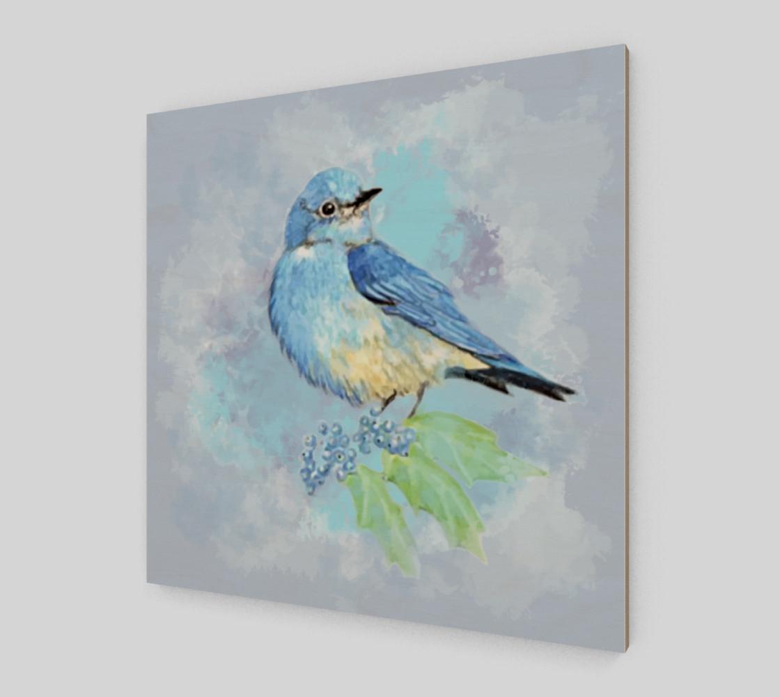 Watercolor Bluebird Blue Bird Nature Art preview #2