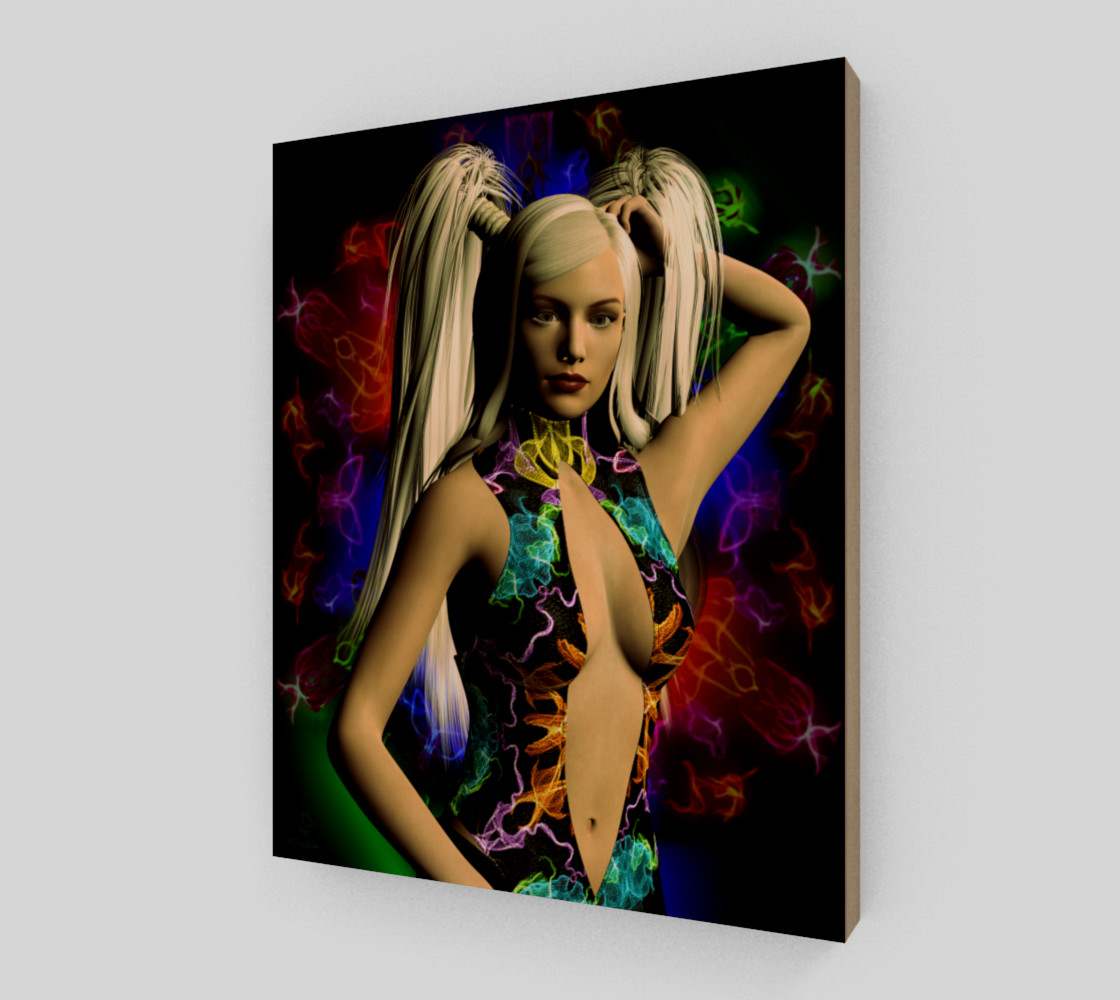 Electric Rainbow fantasy art pinup by tabz Jones preview #2