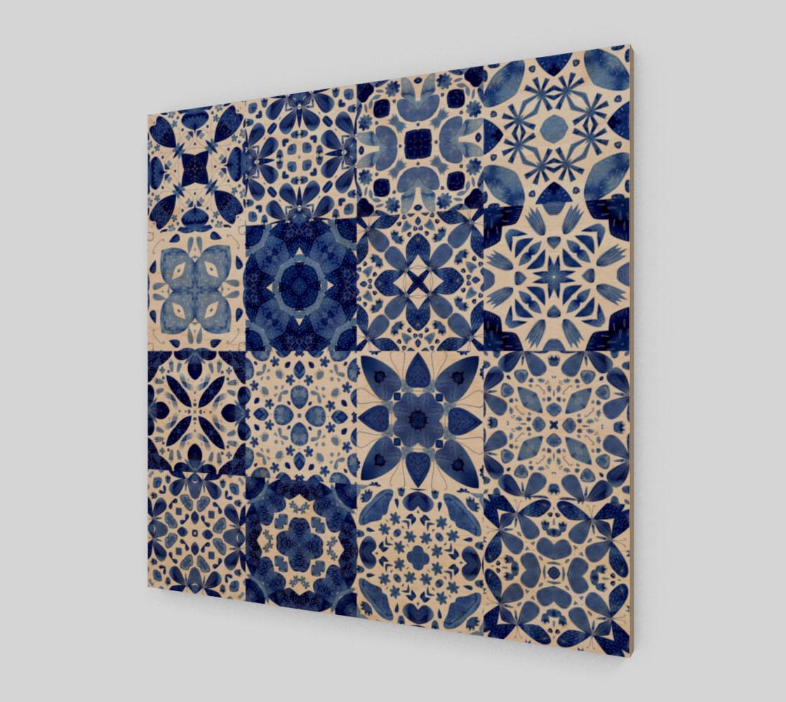 Aperçu de Indigo Watercolor Tiles #1