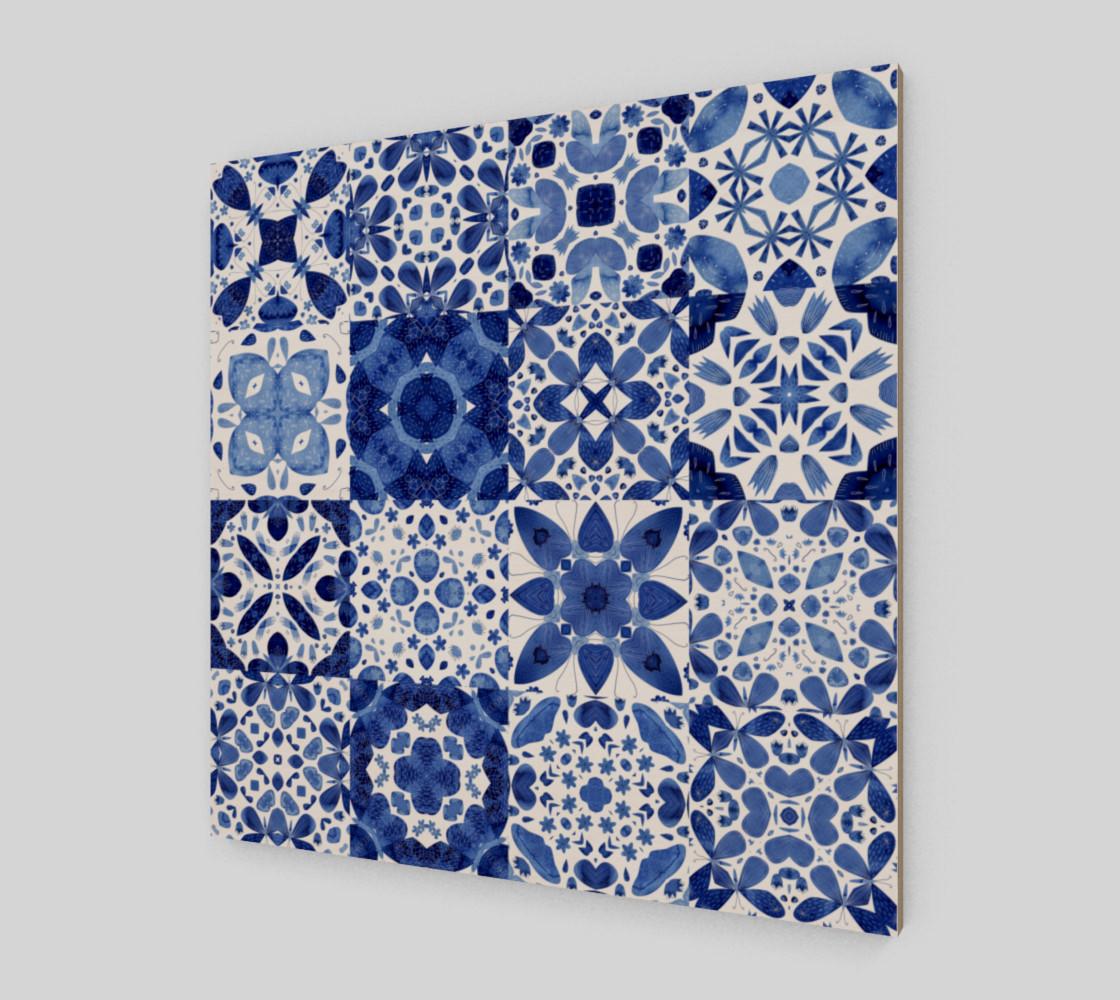Aperçu de Indigo Watercolor Tiles #2