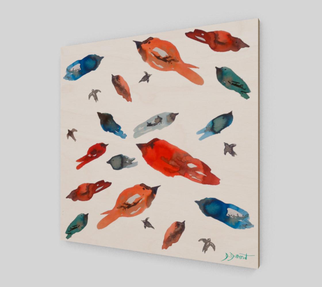 Wall art Little Fish Birds preview #2