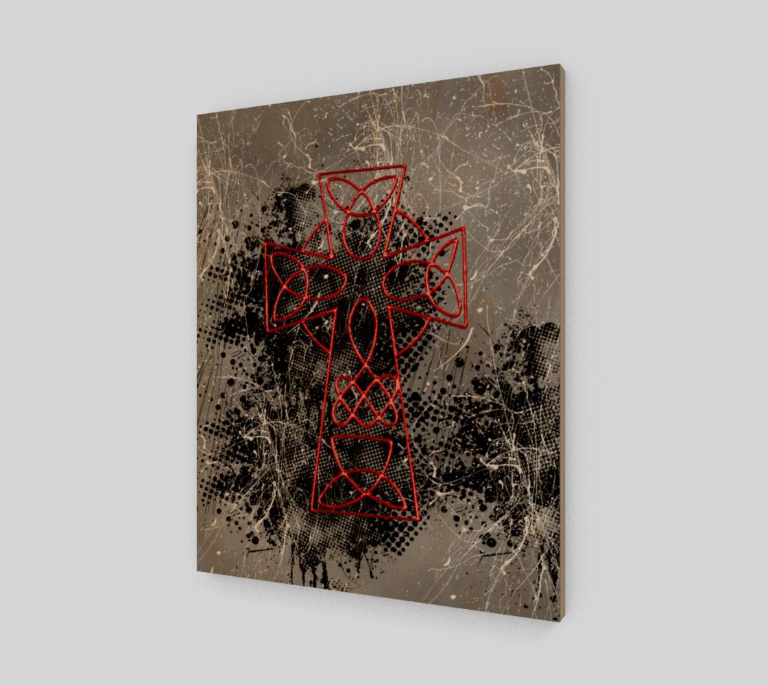 Aperçu de Grunge Cross Gothic Art Print by Tabz Jones #1