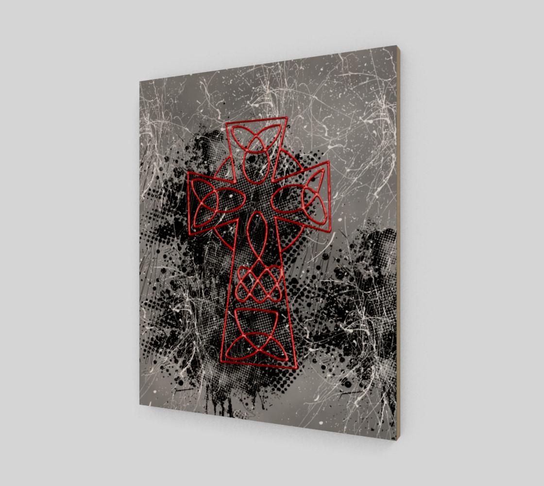 Aperçu de Grunge Cross Gothic Art Print by Tabz Jones #2