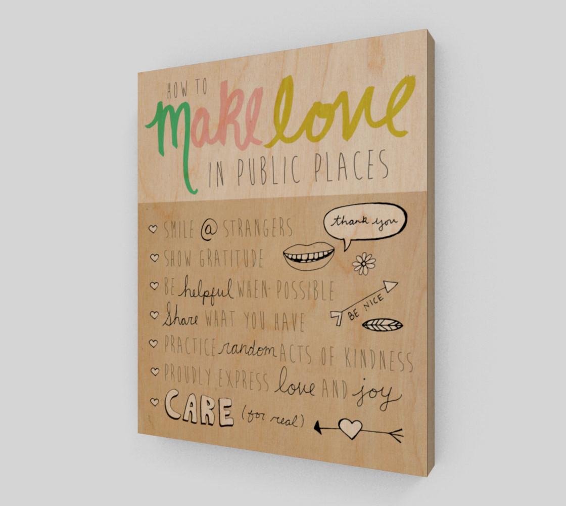 Aperçu de Make Love in Public 8x10 #1